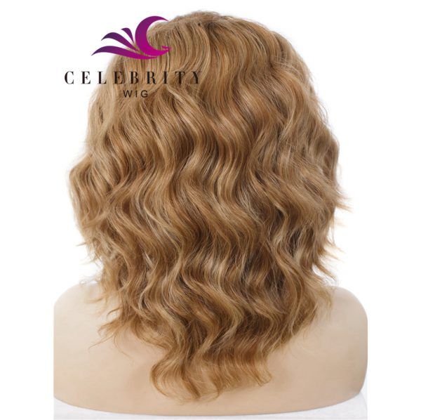 Dark Blonde Brown Ombre Synthetic Lace Front Wig