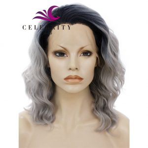 Grey Ombre Synthetic Lace Front Wig