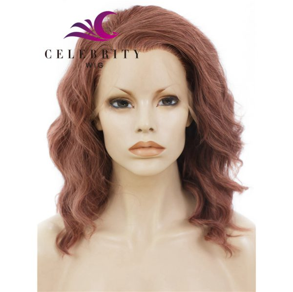Reddish Red Synthetic Lace Front Wig