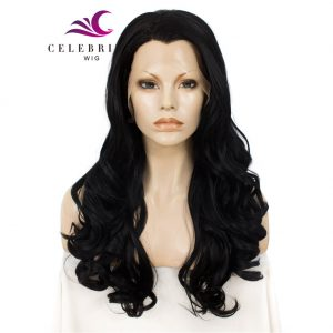 Black Synthetic Lace Front Wig