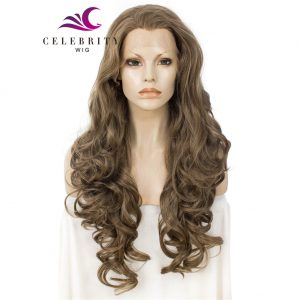 Dark Blonde Synthetic Lace Front Wig