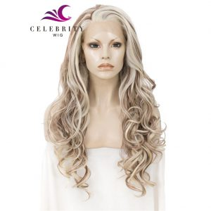 Mixed Color Synthetic Lace Front Wig